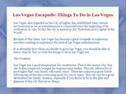 Las Vegas Escapade: Things To Do in Las Vegas