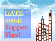GATE 2014 Topper Tips