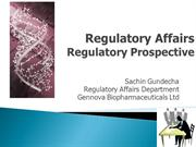 Regulatory Affairs By Sachin Gundecha