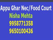 Nisha M 9650100436 Appu Ghar NEC-Food Court Gurgaon A-B Part