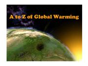 A to Z of Global Warming