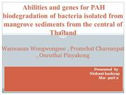 Abilities and genes for PAH biodegradation