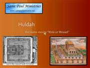 Biblical Women Huldah