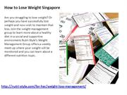 How to lose weight Singapore