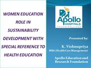 women health educationand its role in sustainability