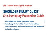 The fastest way to get out of shoulder pain and keep the pain away Pre