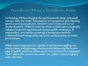 Tech-Driven PR for a Tech-Driven Public