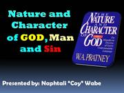 The Nature & Character of God by Coy Wabe 2013