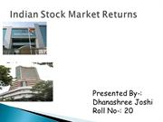 Indian Stock Market Returns