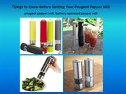 battery operated pepper mill