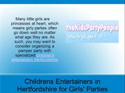 Childrens Entertainers in Hertfordshire for Girls' Parties