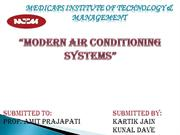 modern air conditioning systems