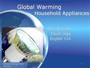 Household Appliances and Global Warming