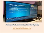 Hosting a Halloween party Advertise digitally