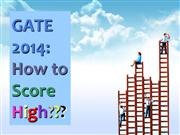 GATE 2014 How to Score High