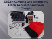 GoGEN Emergency Survival Generator Hand Crank and Solar