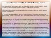 Jessica Higdon to launch 10K Social Media Recruiting Formula
