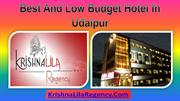 Best And Low Budget Hotel In Udaipur