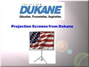Dukane Projection Screens 2013
