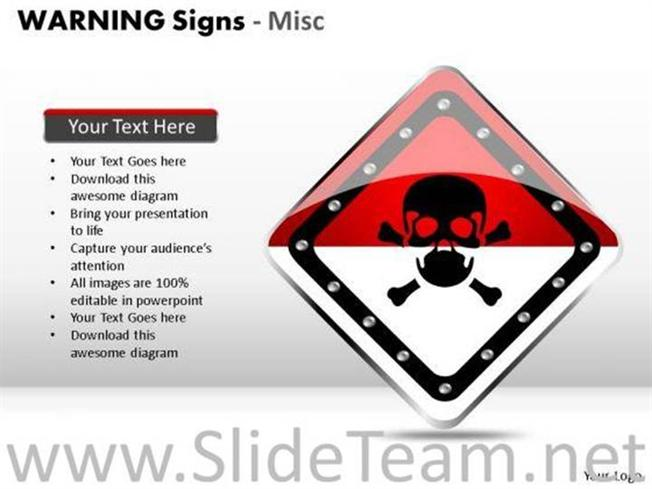 Radioactive warning signs powerpoint diagram powerpoint diagram related powerpoint templates toneelgroepblik Gallery
