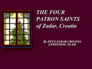 THE FOUR SAINTS PATRONS OF ZADAR 2