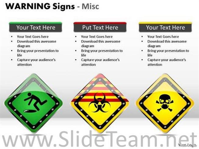 Radiotherapy Warning Signs Ppt Slides Powerpoint Diagram
