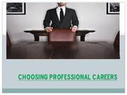 choosing professional careers