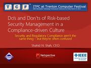 How to embrace risk-based Security MGMT in a compliance-driven culture
