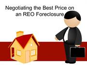 Negotiating the Best Price on an REO Foreclosure
