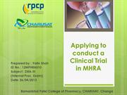 Clinical Trial in MHRA