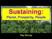 Sustaining Planet Prosperity People