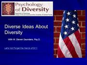 Psychology of Diversity: Ethnicity
