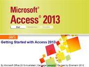 Access 2013 Illustrated Unit A