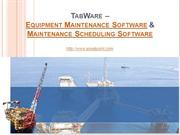 TabWare  - Equipment Maintenance Software & Maintenance Scheduling Sof