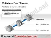 PowerPoint 3D Cubes Flow Step Template