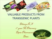 VALUABLE PRODUCTS FROM TRANSGENIC PLANTS