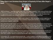 Patsy Cline's Lost Christmas Song Surges in Popularity 50 Years