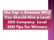The Top 10 Reasons Why You Should Hire a Local SEO Company