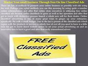 Market Your small business Through Free On line Classified Ads