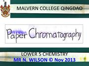 Basic Introduction to Paper Chromatography