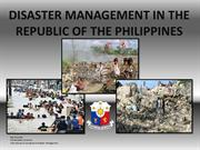 DISASTER MANAGEMENT IN THE REPUBLIC OF THE PHILIPPINES 3