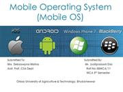 SEMINAR ON MOBILE OPERATING SYSTEM