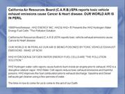 California Air Resources Board (C.A.R.B.)/EPA reports toxic