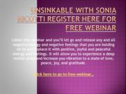 UNSINKABLE WITH SONIA RICOTTI REGISTER HERE FOR FREE