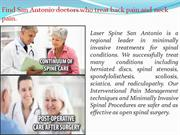 Why choose Laser Spine San Antonio