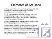 Elements of Art Deco Power Point