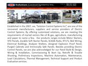 Corporate Profile of Solutions Control Inc
