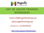 SAP  SD  ONLINE TRAINING HYDERABAD