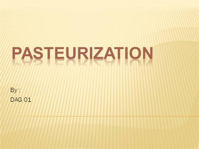 importance of pasteurization