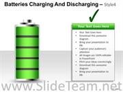 BATTERIES CHARGING AND DISCHARGING POWERPOINT SLIDES